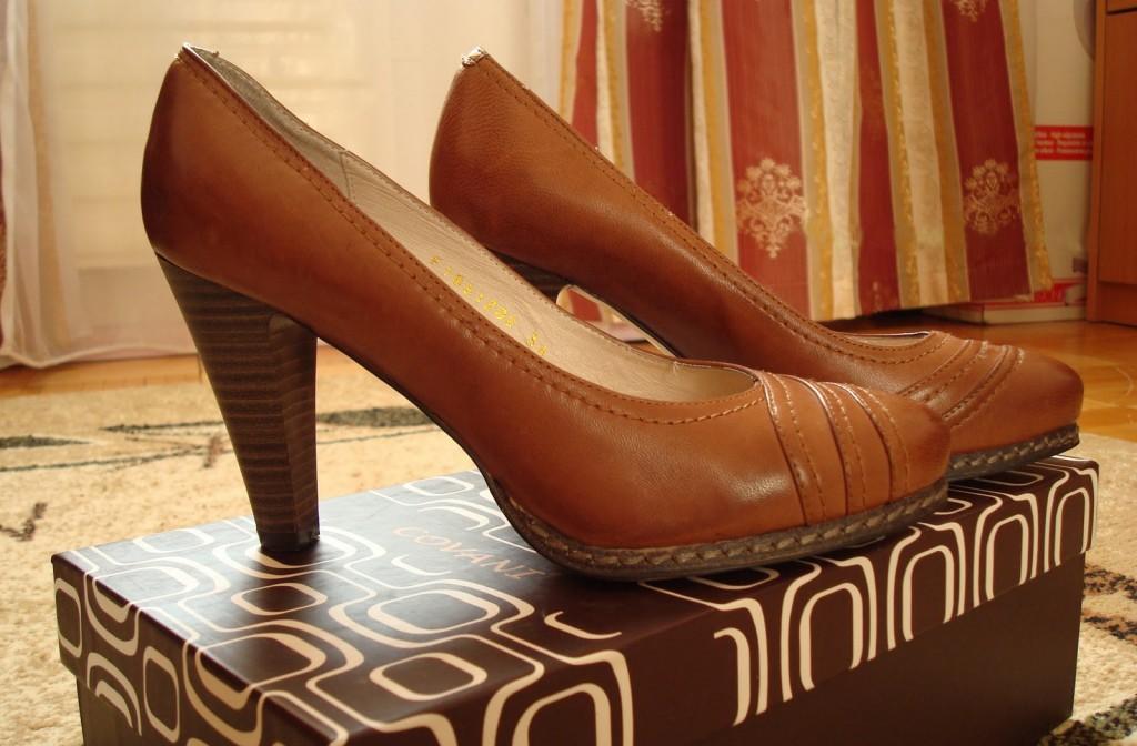 коричневые кожанные туфли