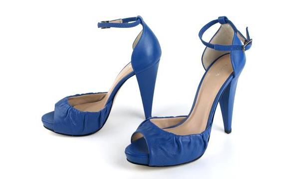 синии туфли