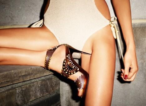 туфли гламур на тонком каблуке