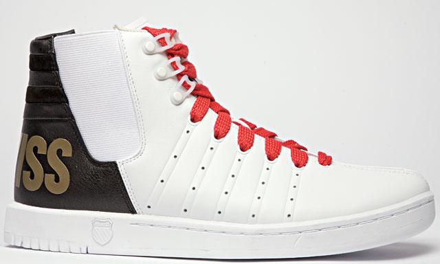 кеды с красными шнурками